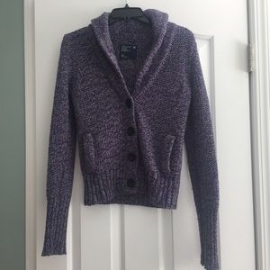American Eagle Outfitters Sweaters - American Eagle purple and gray cardigan
